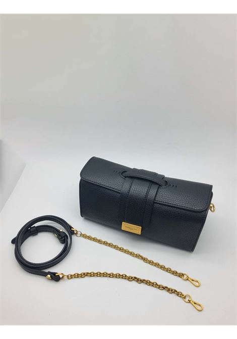 Gemma Shoulder Bag in Black Leather with Shoulder Strap in Gold Chain and Matching Leather Gianni Chiarini | Bags and backpacks | BS8491001