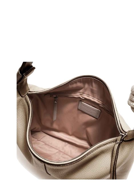 Medium Navy Shoulder Bag In Cream Leather With Natural Rope Shoulder Strap Gianni Chiarini | Bags and backpacks | BS85052971