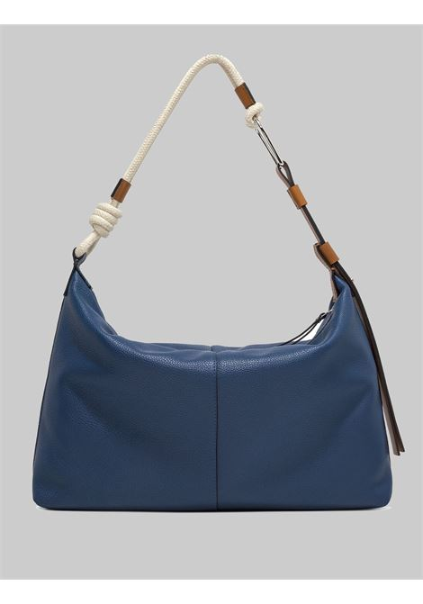 Max Marina Woman Shoulder Bag In Blue Leather With Natural Rope Shoulder Strap Gianni Chiarini | Bags and backpacks | BS85066241