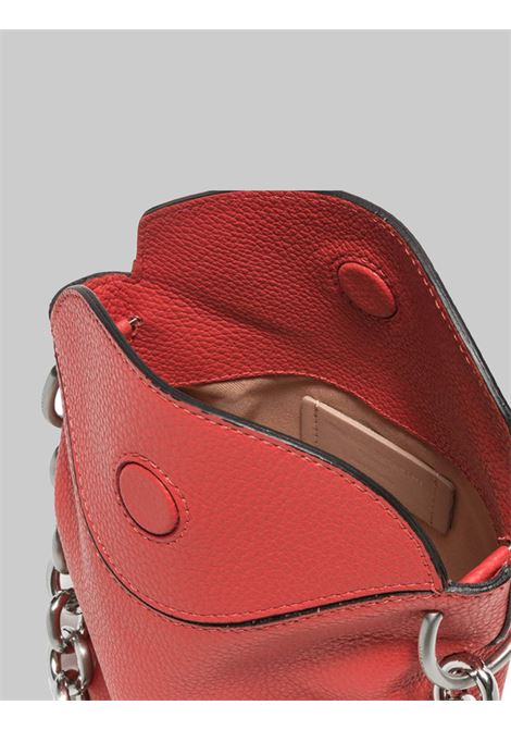 Sophia Small Women's Satchel Bag In Red Leather With Silver Chain And Adjustable And Removable Shoulder Strap Gianni Chiarini | Bags and backpacks | BS851511707