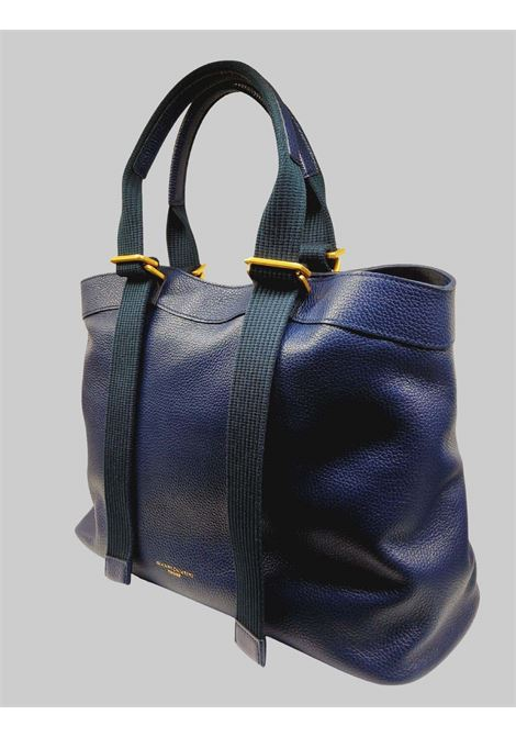 Amaranta Women's Shoulder Bag In Navy Blue Leather With Tone On Tone Adjustable Handles Gianni Chiarini | Bags and backpacks | BS85200208