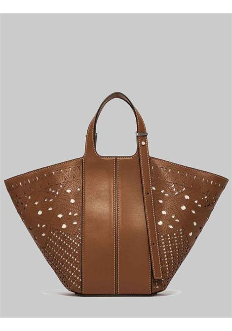 Diletta Woman Bag In Tan Leather With Adjustable Handles Gianni Chiarini | Bags and backpacks | BS8596206