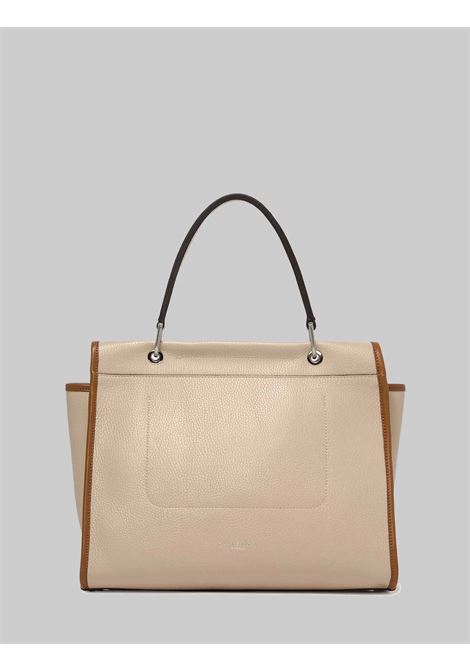 Woman Elettra Shoulder Bag in Cream Leather and Leather Carryover with Adjustable and Removable Shoulder Strap Gianni Chiarini | Bags and backpacks | BS863211764