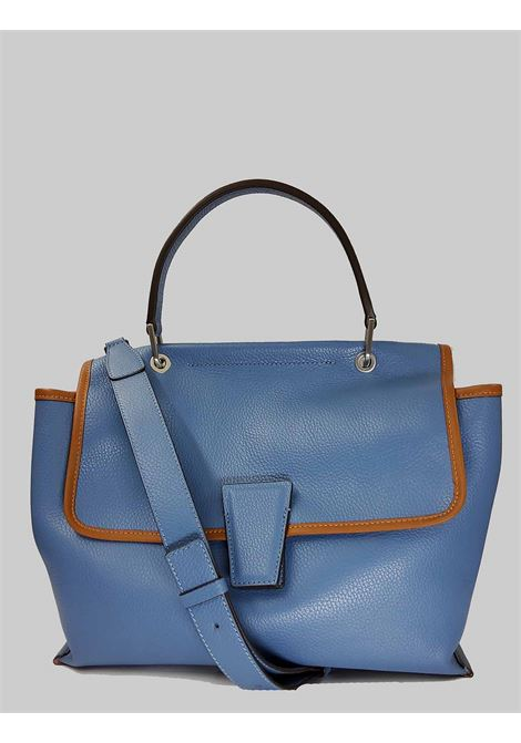 Elettra Woman Shoulder Bag in Blue Leather and Leather Carryover with Adjustable and Removable Shoulder Strap Gianni Chiarini | Bags and backpacks | BS863211814