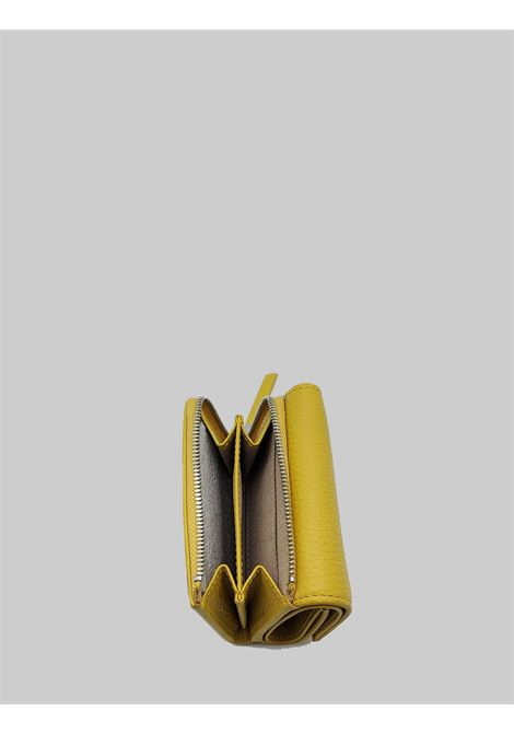 Women's Accessories Grain Wallets in Mustard Leather with Card Holder and Coin Purse Gianni Chiarini | Wallets | PFW506511040