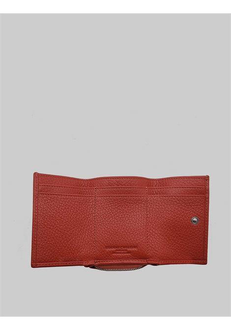 Accessori Donna Portafogli Grain in Pelle Rossa con Portatessere e Portamonete Gianni Chiarini | Portafogli | PFW506511707