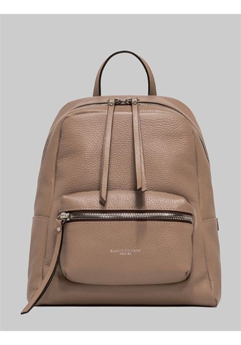 Luna Woman Backpack In Beige Hammered Leather With Front Pocket And Adjustable Handle And Straps Gianni Chiarini | Bags and backpacks | ZN860511706