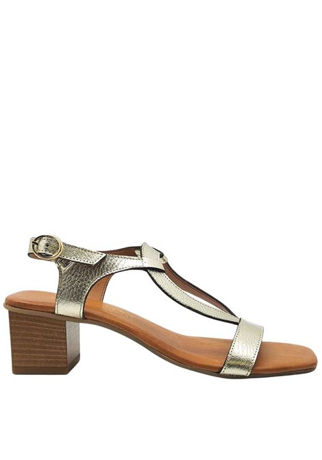 Women's Shoes Platinum Leather Sandals with Back Strap and Side Buckle Hispanitas | Sandals | HV211300600