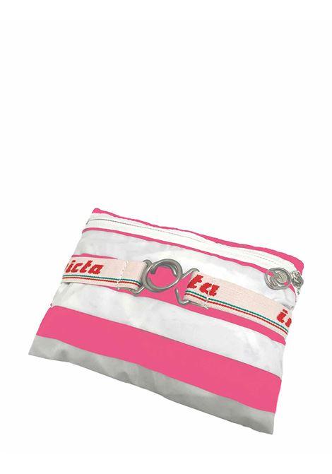 Zaino Unisex Iconico Minisac Bianco e Rosa Ripiegabile 206001662 Invicta | Borse e zaini | MINISAC369