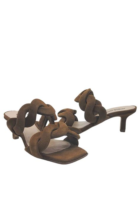 Women's Shoes Sandals in Leather Suede with Double Braided Band Heel 60 Janet & Janet | Sandals | 01153014