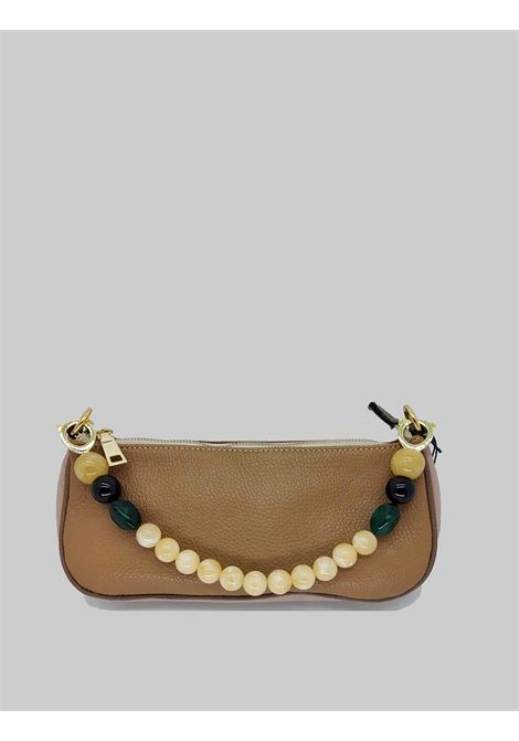Women's Bags Clutch Bag in Faux Leather with Gold Chain and Multicolored Resin Handle Kassiopea | Bags and backpacks | MISSY014