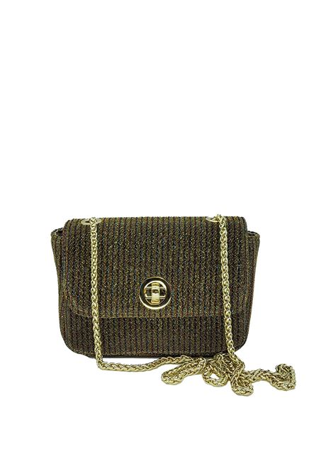 Women's Bags Green Fabric Clutch Bag with Gold Chain Kassiopea | Bags and backpacks | URIEL006