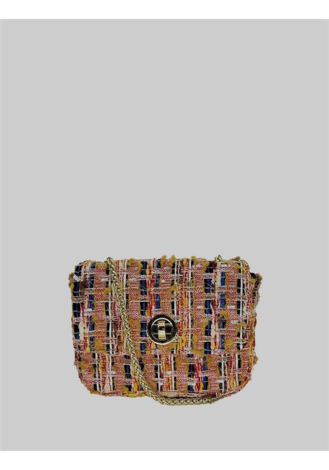 Women's Bags Clutch Bag in Peach Fabric with Gold Chain Kassiopea | Bags and backpacks | URIEL020