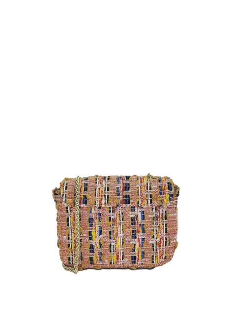 Women's Bags Clutch Bag in Peach Fabric with Gold Chain Kassiopea   Bags and backpacks   URIEL020
