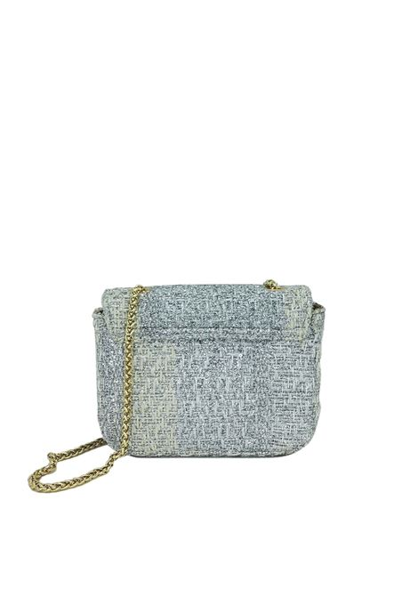 Women's Bags Clutch Bag in Silver Fabric with Gold Chain Kassiopea | Bags and backpacks | URIEL604