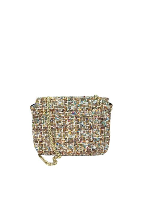 Women's Bags Clutch Bag in Champagne Fabric with Gold Chain Kassiopea   Bags and backpacks   URIEL607
