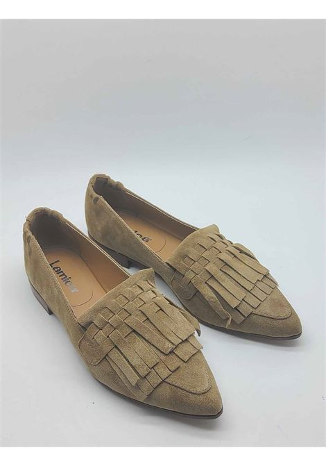 Women's Shoes Pointed Toe Loafers in Leather Suede with Tone-on-Tone Fringes Lamica | Mocassins | SERINA302