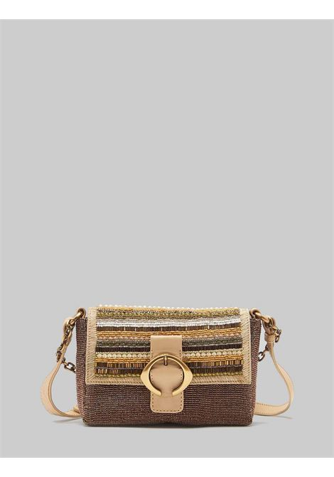 Woman Small Shoulder Bag Beads Stripes in Natural Multicolor Beads with Removable Shoulder Strap Maliparmi | Bags and backpacks | BD00649076611B99