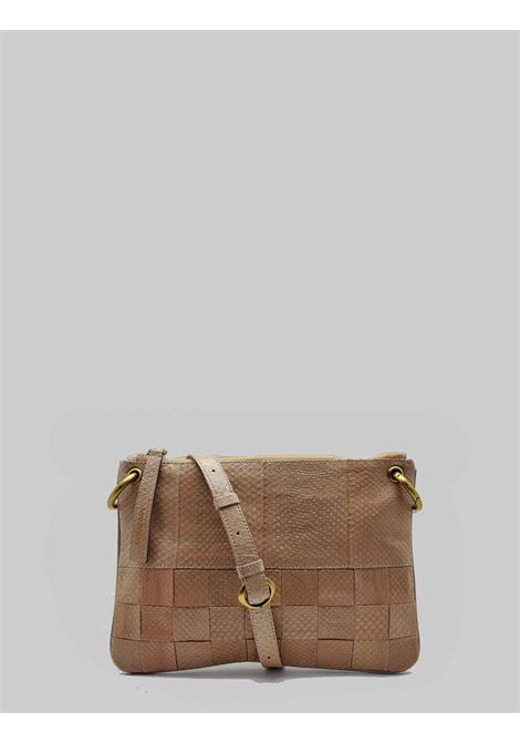 Woman Small Shoulder Bag Exotic Woven in Beige Wips with Removable Shoulder Strap in The Sane Color Maliparmi | Bags and backpacks | BD00670143612035