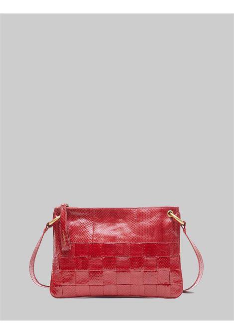 Borsa Donna Tracolla Piccola Exotic Woven in Wips Rosso Porpora con Tracolla Removibile in Tinta Maliparmi | Borse e zaini | BD00670143630032