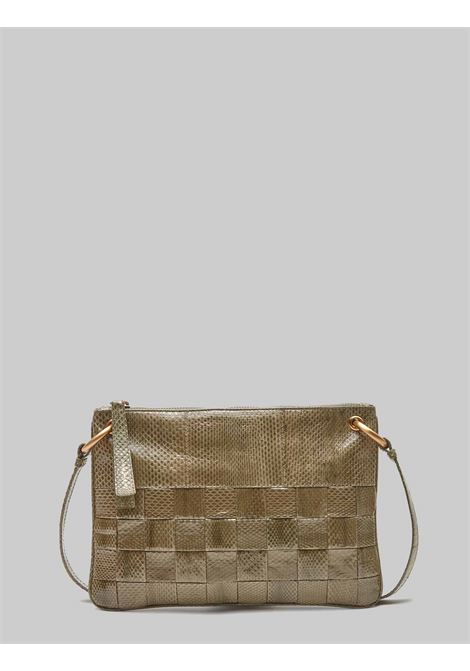 Small Woman Shoulder Bag Exotic Woven in Green Wips with Removable Shoulder Strap in The Same Color Maliparmi | Bags and backpacks | BD00670143660010