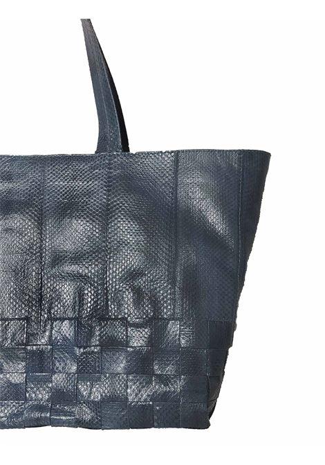 Borsa Donna Shopping Grande Exotic Woven in Wips Blu Maliparmi | Borse e zaini | BH02620143680002
