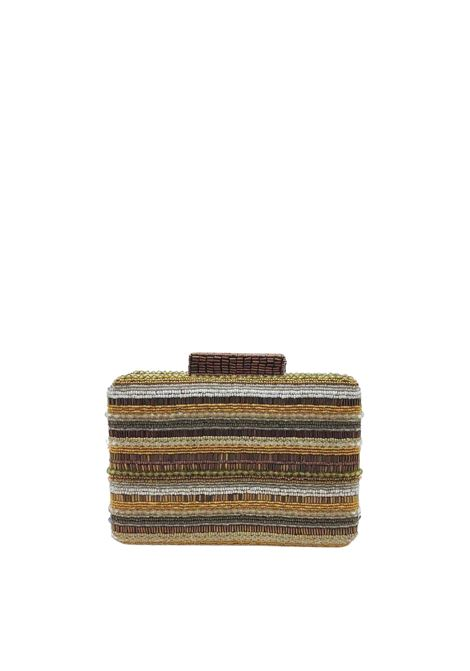Borsa Donna Clutch con Tracolla a Catena Removibile Clutch Beads Stripes Naturale Multicolore Maliparmi | Borse e zaini | BP00079076611B99