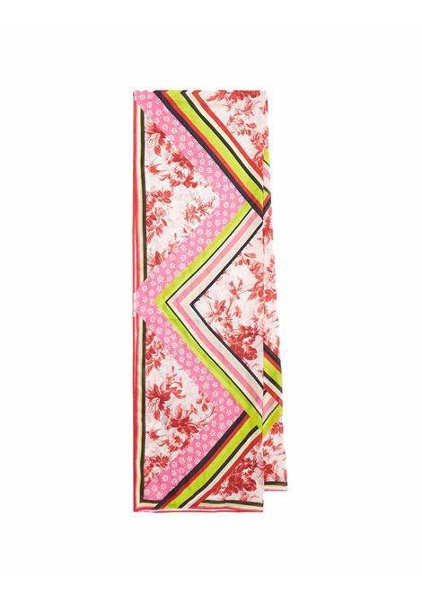 Accessori Donna Stola Collection Print in Pura Seta 100% Seta Rosa Maliparmi | Sciarpe e foulard | IB024130099B3240