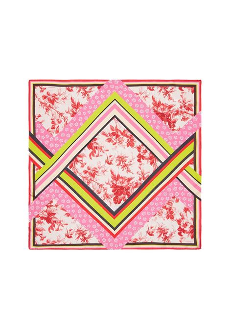 Accessori Donna Foulard in Seta Collection Print Rosa a Fantasia Maliparmi | Sciarpe e foulard | IR001933198B3240