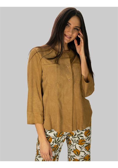 Abbigliamento Donna Giubbino Soft Suede in Camoscio Beige Maliparmi | Giacche e giubbini | JC01210145012021