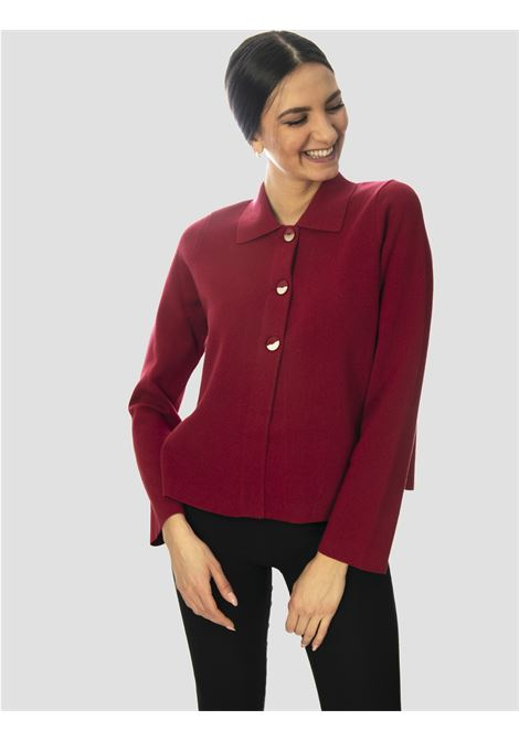 Women's Clothing Unit Milano Stitch Shirt in Purple Cotton with 3 Buttons Maliparmi |  | JD63937029830032