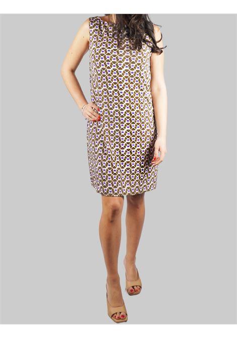 Abbigliamento Donna Abito Jersey Happy Frame a Giromaniche in Fantasia Naturale Maliparmi | Abiti | JF633370493B1104