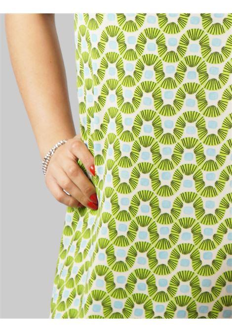 Abbigliamento Donna Abito Jersey Happy Frame a Giromaniche in Fantasia Verde Maliparmi | Abiti | JF633370493C6015