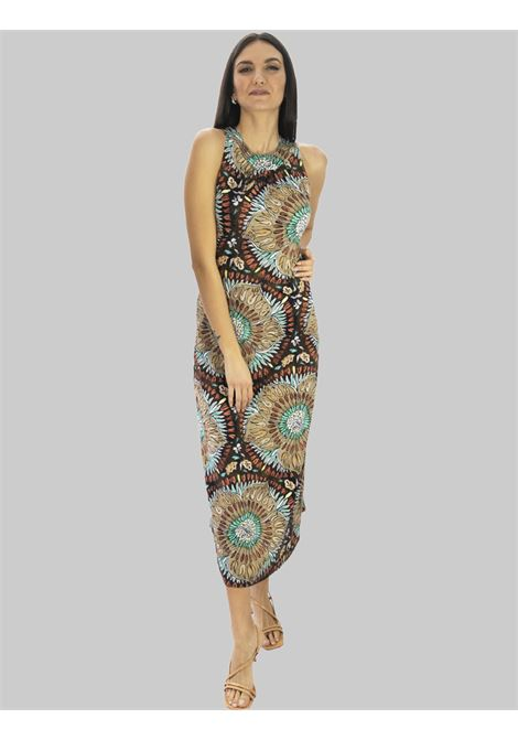 Women's Clothing Long Dress in Brown Welcome Summer Maliparmi |  | JF642870407B4037