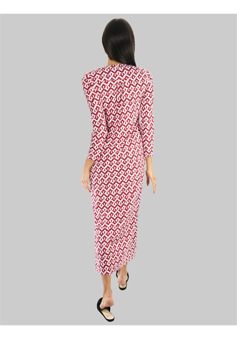 Women's Clothing Long Caftan Ceres Drop Jersey in Red and Pink Maliparmi |  | JF643970498A3092