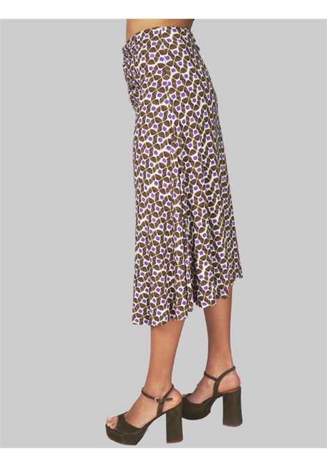 Women's Clothing Beige Printed Happy Frame Jersey Skirt Maliparmi | Skirts and Pants | JG359070493B1104