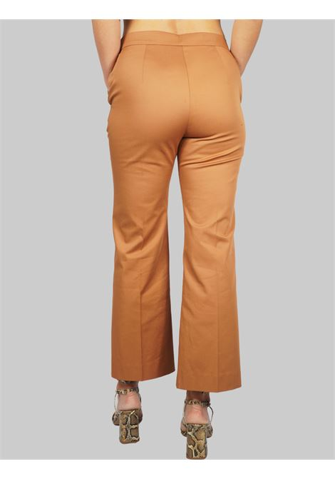 Abbigliamento Donna Pantalone Stretch Gabardine Ocra Maliparmi | Gonne e Pantaloni | JH71441013612021