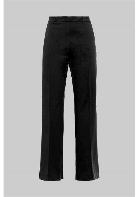 Women's Clothing Stretch Gabardine Pants Black Maliparmi | Skirts and Pants | JH71441013620000