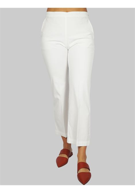 Women's Clothing Stretch Satin Cotton Pants Natural Maliparmi | Skirts and Pants | JH71441013710001