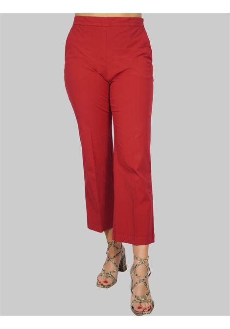 Women's Clothing Stretch Satin Cotton Pants Purple Maliparmi | Skirts and Pants | JH71441013730032