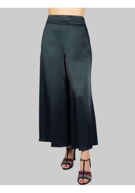 Women's Clothing Black Liquid Cady Pants Wide Leg Maliparmi | Skirts and Pants | JH71915012320000