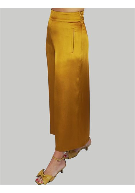 Women's Clothing Liquid Cady Pants Mustard Wide Leg Maliparmi | Skirts and Pants | JH71915012370013