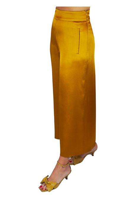 Abbigliamento Donna Pantalone Liquid Cady Senape Gamba Ampia Maliparmi | Gonne e Pantaloni | JH71915012370013