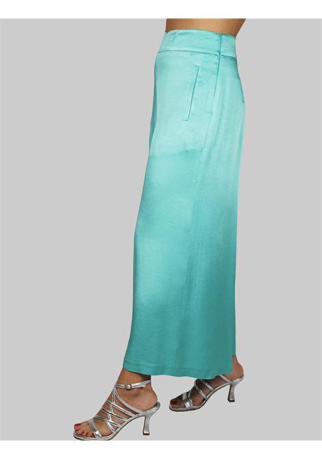 Abbigliamento Donna Pantalone Liquid Cady Turchese Gamba Ampia Maliparmi | Gonne e Pantaloni | JH71915012382012