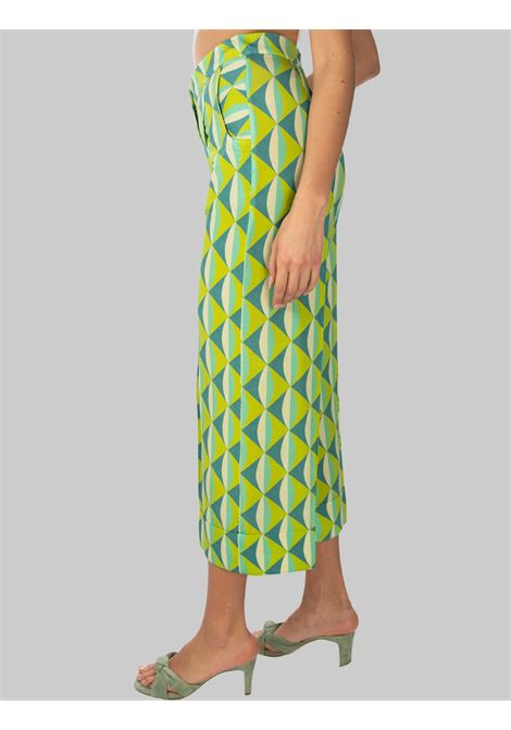 Women's Clothing Symmetria Jersey Trousers with Water Pattern Maliparmi | Skirts and Pants | JH737570496A8208