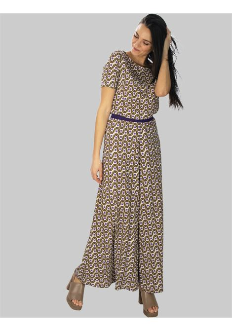 Women's Clothing Beige and Natural Patterned Happy Frame Jersey Trousers Maliparmi | Skirts and Pants | JH742270493B1104