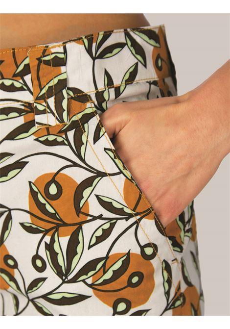 Abbigliamento Donna Pantalone Popeline Dotty Ramage in Cotone Naturale e Ocra Maliparmi | Gonne e Pantaloni | JH746110138B1105