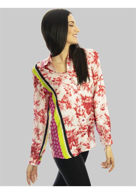 Women's Clothing Collection Print Shirt in Pure Pink Printed Silk Maliparmi | Shirts and tops | JM214430091B3242