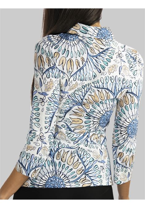Women's Clothing Shirt Welcome Summer Jersey with Light Blue Pattern Maliparmi | Shirts and tops | JM542270407A8146