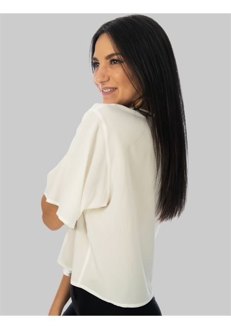 Abbigliamento Donna T-shirt in Seta Crepe de Chine Over in Naturale Maliparmi | Camicie e Top | JM54243004410001